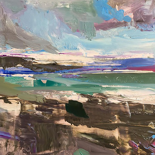 Edwige Fouvry, 'Plages en Irelande', 2019, Painting, Oil on panel, Dolby Chadwick Gallery