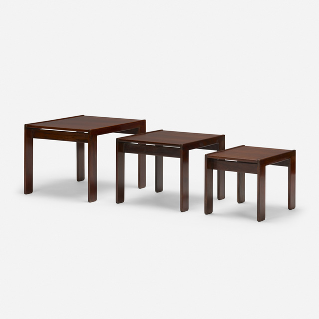 Afra and Tobia Scarpa, 'nesting tables, set of three', c. 1965, Wright