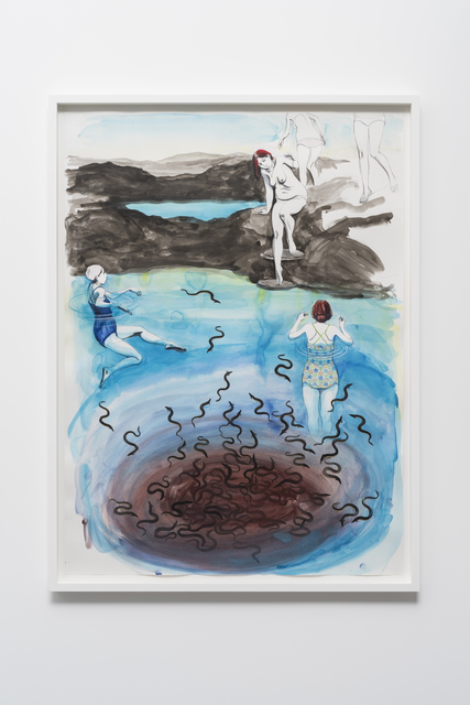 , 'Untitled (Three bathers at Invisible waters),' 2016, Pilar Corrias Gallery