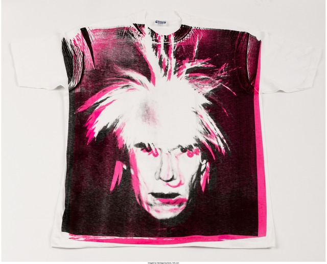 Andy Warhol, 'Self-Portrait with Fright Wig', circa 1986, Print, Silkscreen print on (XXL) T-Shirt, Heritage Auctions