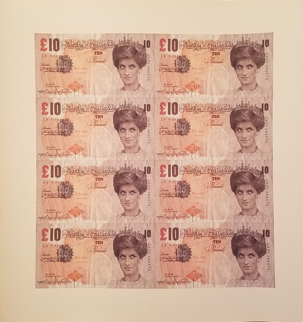 Banksy, 'Uncut Proof Sheet of Princess Di Ten Pound Notes (Prop from DocoBANKSY movie) ', ca. 2009, Gallery 30 South