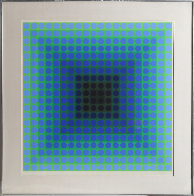 Victor Vasarely, 'CTA - Blue', 1965, RoGallery