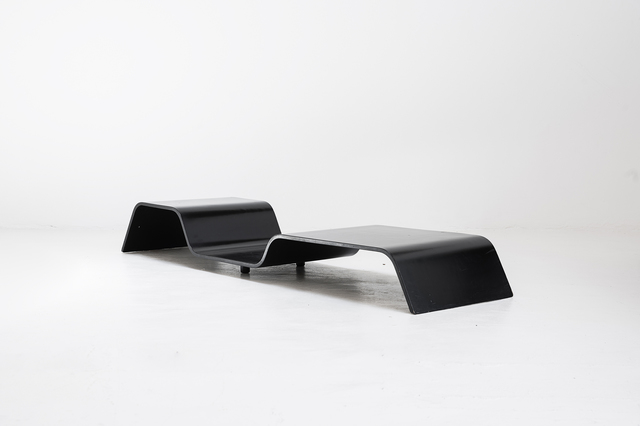 ", 'Low coffee table model ""Modulo"",' 1980, Side Gallery"