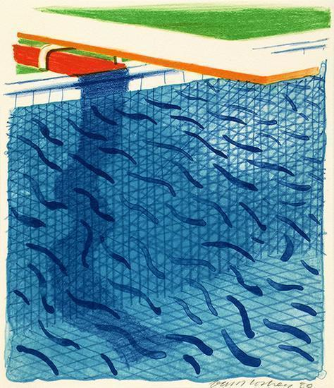David Hockney, 'Pool Made with Paper and Blue Ink for Book', 1980, Upsilon Gallery