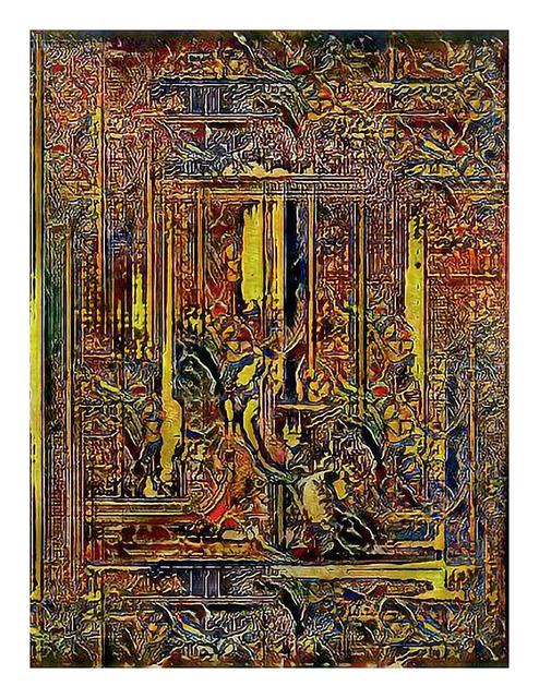 , 'Narrative Frame (Illuminated Manuscripts 4),' 2019, Mark Moore Fine Art