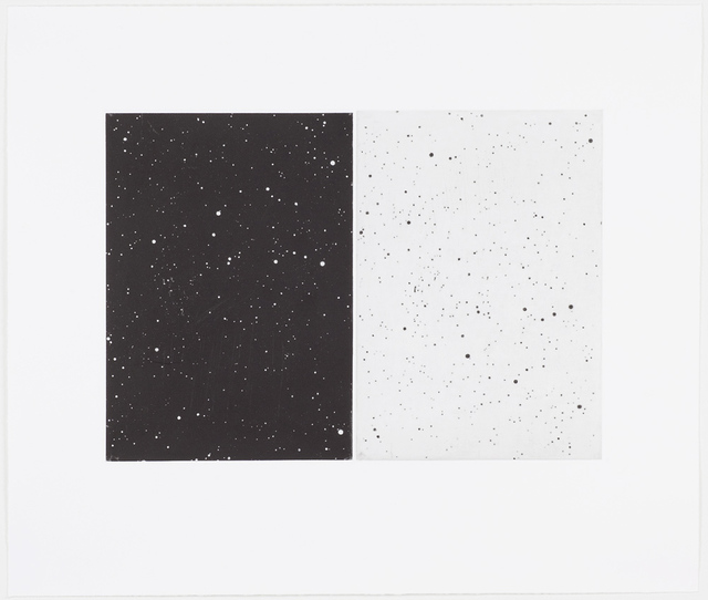 , 'Black and White Diptych,' 2010, Barbara Mathes Gallery