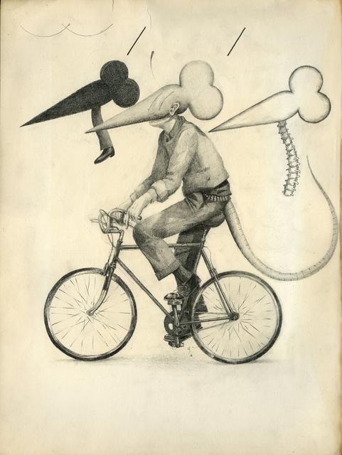, 'Flat Black Rat Bike No Pedestrian Nerve Column,' 2015, Patrick Parrish Gallery