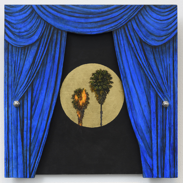 , 'Blue Curtain,' 2017, Lora Schlesinger Gallery