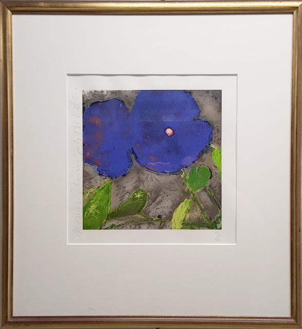 Donald Sultan, 'Morning Glories (Dark Blue)', 1988, Print, Screenprint in colours on wove paper, artrepublic