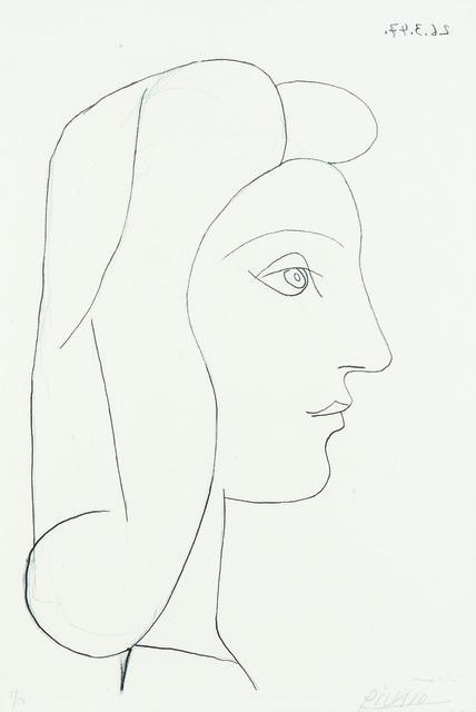 , 'Profil de Femme,' 1947, Sims Reed Gallery