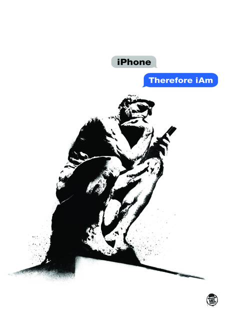 , 'iPhone, Therefore I Am,' 2018, Bruce Lurie Gallery