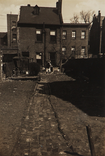 , 'Untitled (cobblestone walkway and home),' 1930-1943, L. Parker Stephenson Photographs