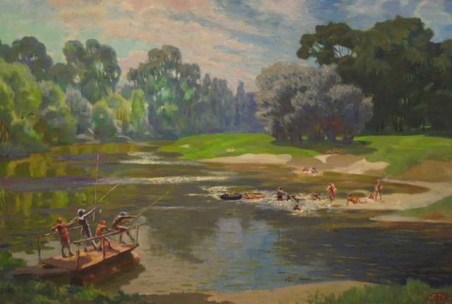Mikhail Yakovlevich Pyshta, 'Ajtuva River', circa. 1950, Surikov Foundation