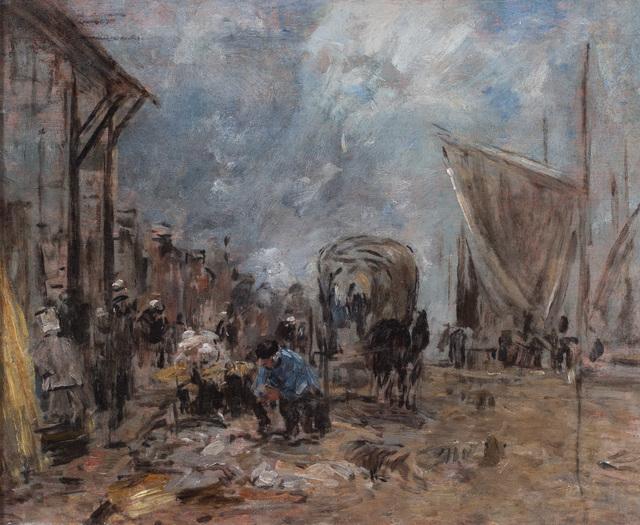 , 'Scene de marche a Trouville,' ca. 1885, Ottocento
