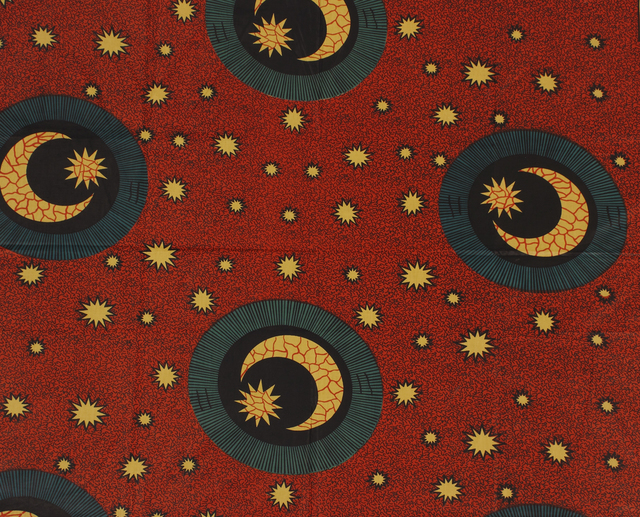 , 'Factory Printed Textile with Crescent Moon Motif  ,' 20th century, Newark Museum