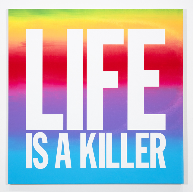 John Giorno, 'LIFE IS A KILLER', 2018, Sperone Westwater