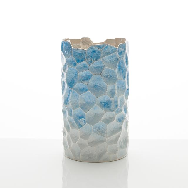 Hiroshi Suzuki, 'Terra Vase', 2019, Design/Decorative Art, Hammer-raised, chased and enamelled Fine silver 999 with silver leaf details, Adrian Sassoon