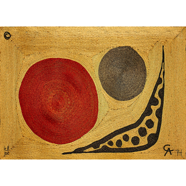 "Bon Art, 'Maguey Fiber Tapestry, ""Moon"", Guatemala', 1974, Rago/Wright"