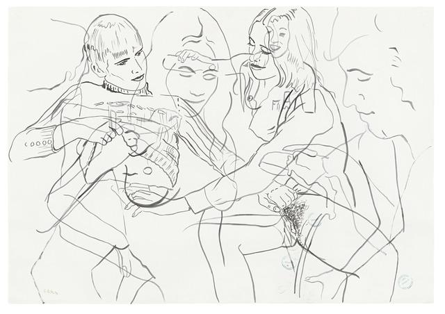 , 'Figurenstudie / Figure Study,' 1973, Suzanne Tarasieve