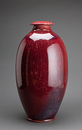 , 'Covered jar, pomegranate glaze,' , Pucker Gallery