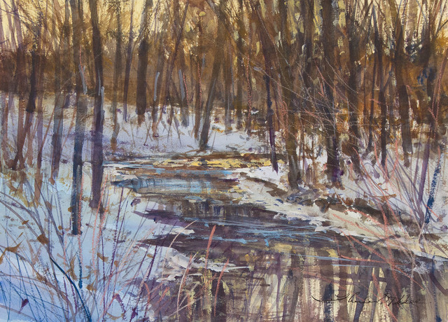 , 'WINTER CREEK-EVENING TONES (PISGAH NATIONAL FOREST),' 2016, Jerald Melberg Gallery