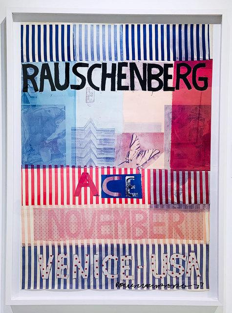 Robert Rauschenberg, 'Ace, November, Venice USA poster', 1977, Robert Fontaine Gallery
