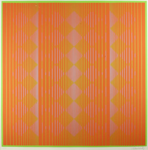 , 'Diamonds Floating in Orange,' 1970, Thomas French Fine Art