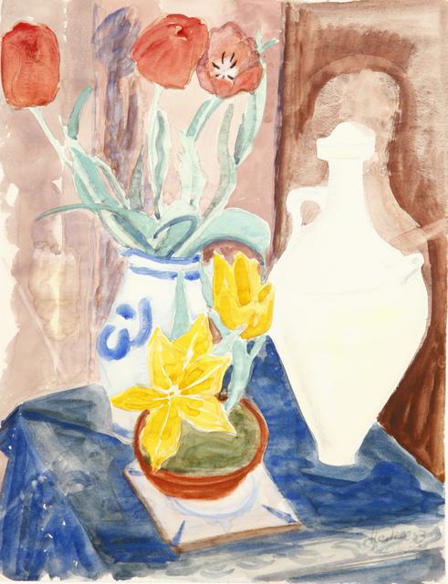 Erich Heckel, 'Stilleben mit Blumen und arabischem Krug', 1953, Henze & Ketterer