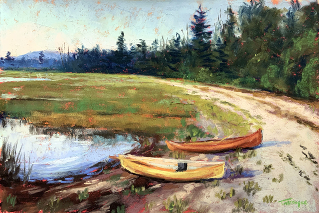 Takeyce Walter, 'Day 20: Two Canoes', February 2020, Painting, Pastels, Keene Arts