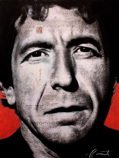 André Monet, 'Leonard Cohen', 2019, Art Angels