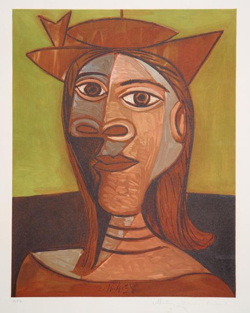 Pablo Picasso, 'Tête de Femme, 1938', 1979-1982, Print, Lithograph on Arches paper, RoGallery