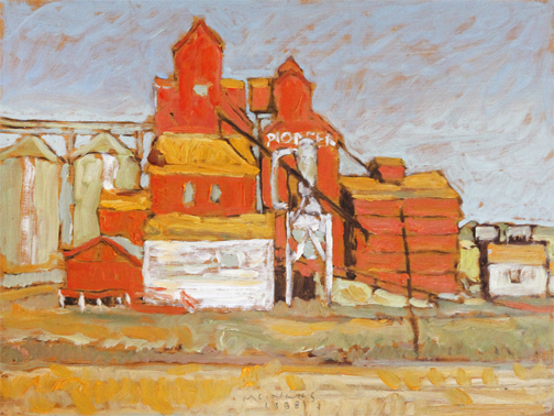 , 'PIONEER, GRAIN ELEVATOR, ALLIANCE, AB,' 1988, Roberts Gallery Ltd.