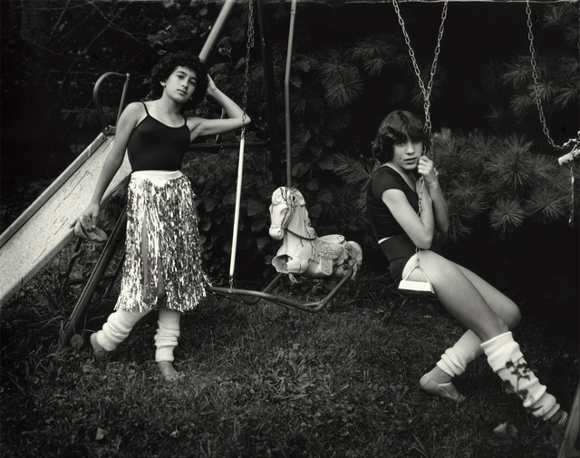 Sally Mann, 'Debbie and Becky on the Swing Set', 1983-1985, Photography, Silver gelatin print, Gagosian