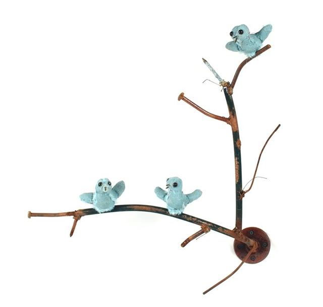 , 'Three Blue Birds,' 2015, Rebecca Hossack Art Gallery