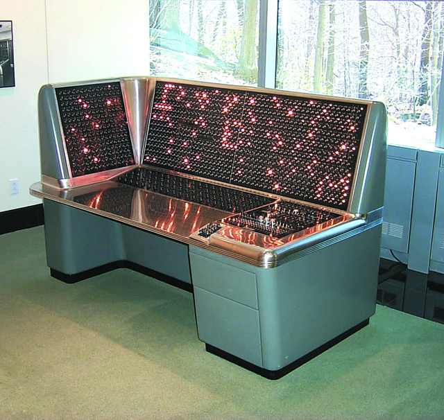 , 'IBM Selective Sequence Electronic Calculator Operator Console,' 1948, New York Historical Society