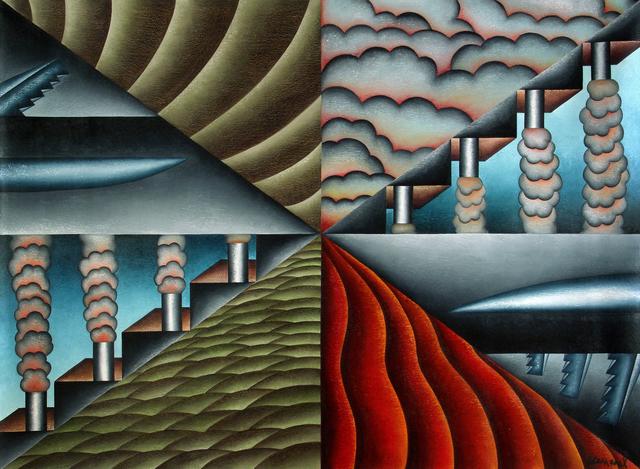 Antonio Henrique Amaral, 'Field of Opposites', 1992, Painting, Oil on Canvas, ArtSpace / Virginia Miller Galleries