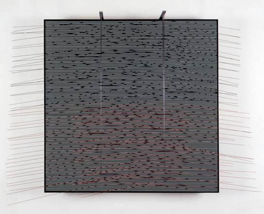 , 'NEGRO Y LADRILLO,' 1989, Galería Cayón