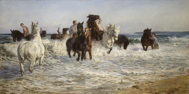 , 'Horses bathing in the Sea,' 1900, National Gallery of Victoria