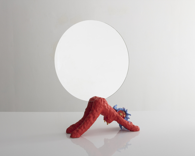 ", '""Girl Mirror"" in ceramic and glass,' 2017, R & Company"
