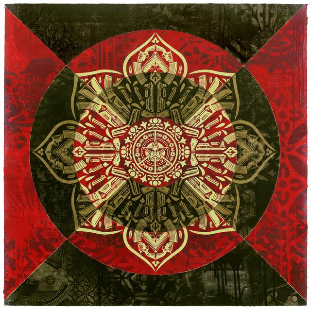 , 'Gun Mandala Abstract Target (Black),' 2018, 212GALLERY