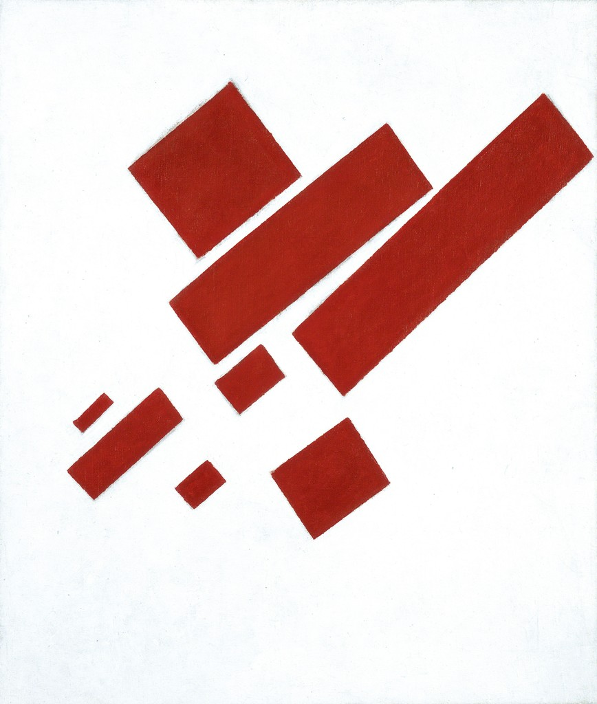 Suprematist Composition (with Eight Red Rectangles)