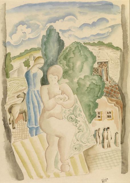 , 'Jeune femme à l'entrée du village,' 1877-1955, Waterhouse & Dodd