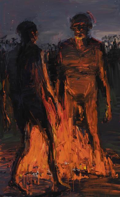 , 'Figures Across Fire,' 2019, Yavuz Gallery
