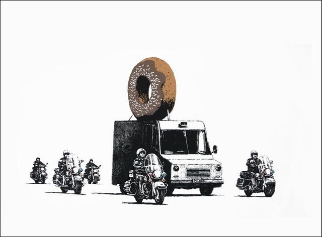 Banksy, 'Donuts (Chocolate)', 2007, Contemporary Art Trader