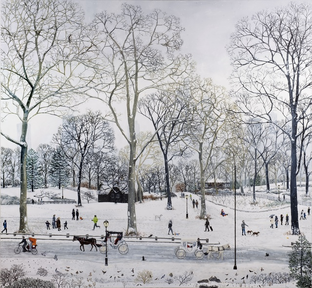 , 'Central Park Snow,' 2016, Rebecca Hossack Art Gallery