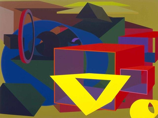 , 'Geocentric II,' 1989, Al Held Foundation