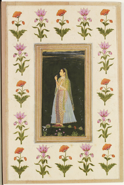 , 'A Muslim Lady Holding a Flower,' Late 17th century, Victoria and Albert Museum (V&A)