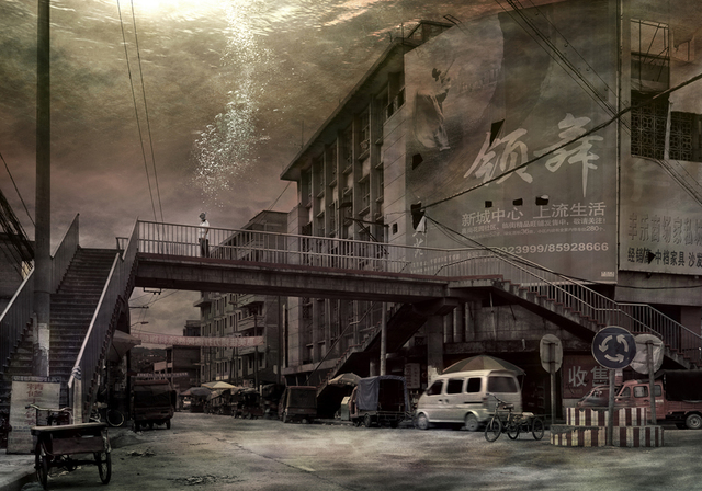 , 'Uprooted #5, Old Town of Kaixian: Divinity Reception Road, Pedestrian Overbridge,' 2007, Galerie Richard