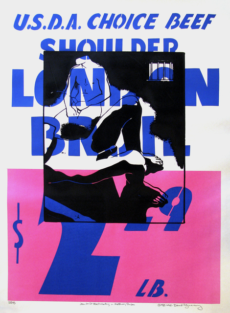 David Wojnarowicz, 'Jean Genet Masturbating in Metteray Prison (London Broil)', 1983, Johannes Vogt Gallery