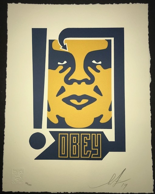 Shepard Fairey (OBEY), 'Giant Mustard And Navy', 2014, New Union Gallery